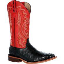 Durango® Premium Exotics™ Fiery Red Full-Quill Ostrich Western Boot