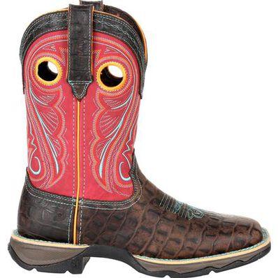 Lady Rebel™ by Durango® Women's Gator Emboss Western Boot, , large