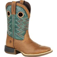 Durango Lil' Rebel Pro Big Kid's Teal Western Boot
