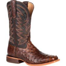 Durango® Premium Exotic Full-Quill Antiqued Saddle Western Boot