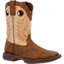 Rebel™ by Durango® Tan Elephant Print & Bone Western Boot