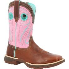 Lady Rebel™ by Durango® Women's Chestnut & Pink Rose Western Boot