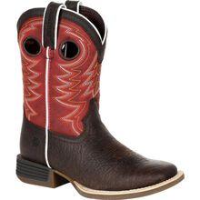 Durango® Lil' Rebel Pro™ Big Kid's Red Western Boot