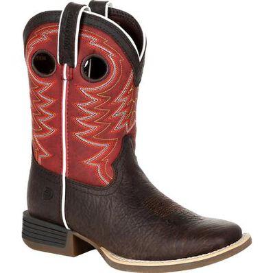 Durango® Lil' Rebel Pro™ Big Kid's Red Western Boot, , large