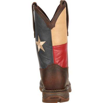 Bota vaquera de bandera de Texas con punta de acero Rebel by Durango, , large
