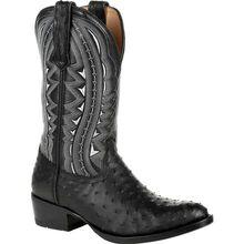 Durango® Premium Exotic Full-Quill Ostrich Ebony Western Boot