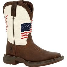 Lil' Rebel™ by Durango® Little Kids Distressed Flag Western Boot