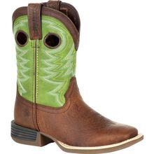 Durango® Lil' Rebel Pro™ Big Kid's Lime Western Boot