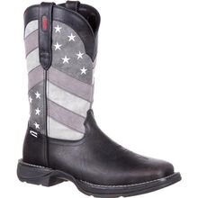 Rebel™ by Durango® Faded Black Flag Western Boot
