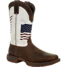 Rebel™ by Durango® Distressed Flag Embroidery Western Boot