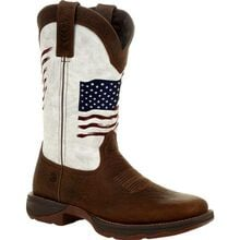 Lady Rebel™ by Durango® Women's Distressed Flag Embroidery Western Boot