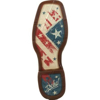 Rebel™ by Durango® Distressed Flag Embroidery Western Boot, , large