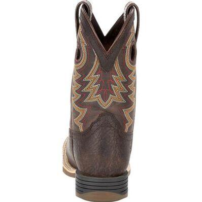 Durango® Lil' Rebel Pro™ Little Kid's Brown Western Boot, , large
