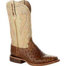 Durango® Premium Exotics™ Women's Full-Quill Ostrich Sunset Wheat Western Boot
