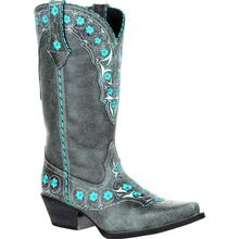 Crush™ by Durango® Women's Blue Floral Western Boot