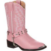 Botas vaqueras Durango para niños rosadas con imitación de diamantes Durango Little Kid