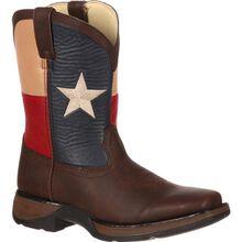 Bota vaquera para niños con bandera Lil' Durango Texas