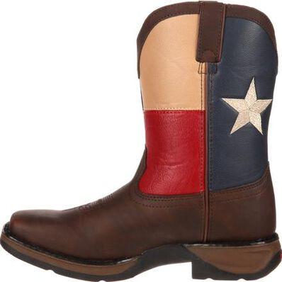Bota vaquera para niños con bandera Lil' Durango Texas, , large