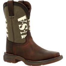 Lil' Rebel™ by Durango® Little Kids' Army Western Boot