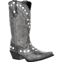 Crush by Durango Women's Pewter Floral Western Boot, , medium