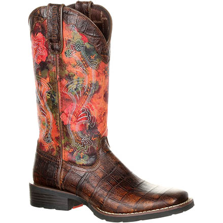 Durango® Mustang™ Women's Faux Exotic Western Pull-on Boot, , large