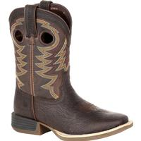Durango Lil' Rebel Pro Little Kid's Brown Western Boot, , medium