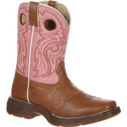 a75f67b6 Bota vaquera color bronceado para niños pequeños con cordones juvenil Lil'  Durango, , large