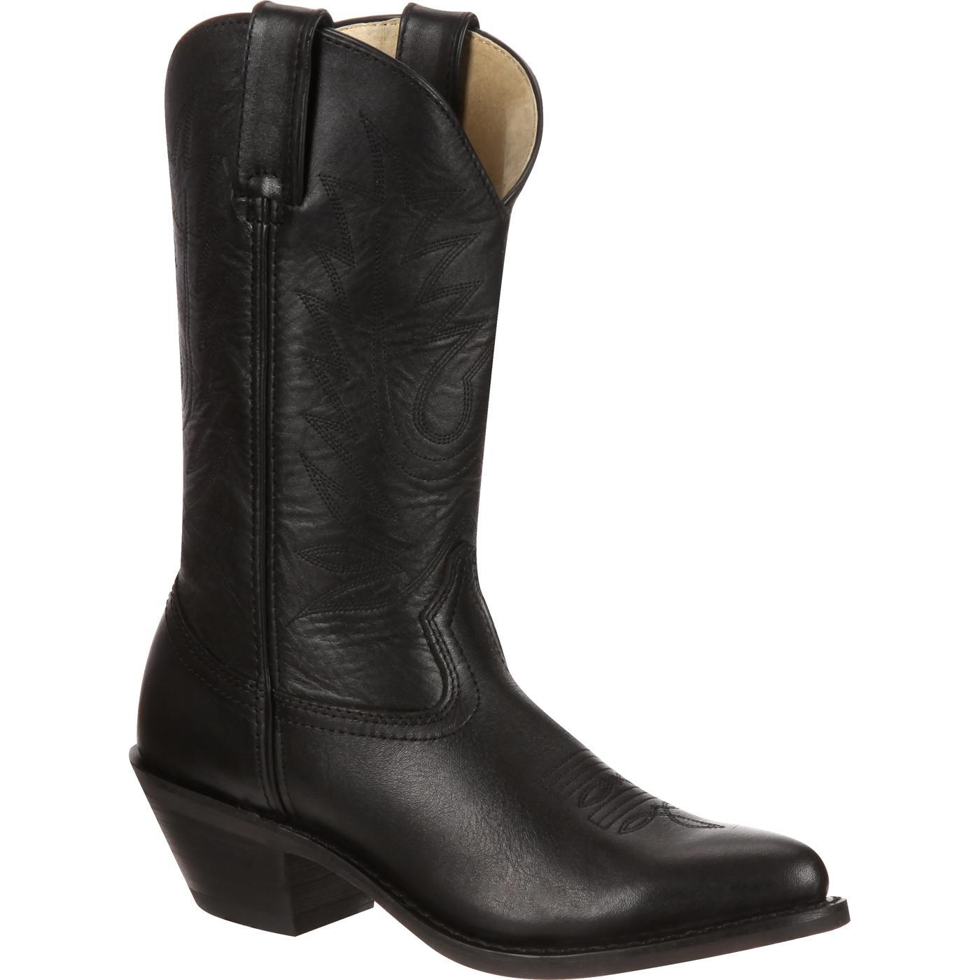 Botas vaqueras de cuero negro para damas de Durango  RD4100 fb30992f6c4
