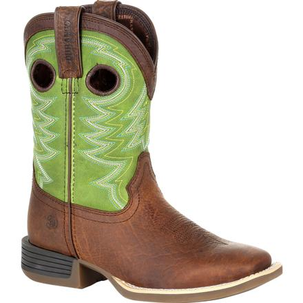 Durango® Lil' Rebel Pro™ Little Kid's Lime Western Boot