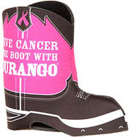 Durango® Pink Ribbon Boot Koozie, , medium