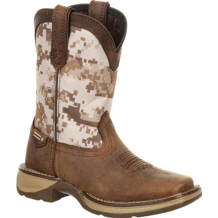 Lil' Rebel by Durango Big Kids Desert Camo Western Boot, , large