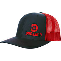 Durango Logo Ball Cap, RED, medium