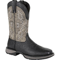 Rebel by Durango Black Exotic Western Boot, , medium
