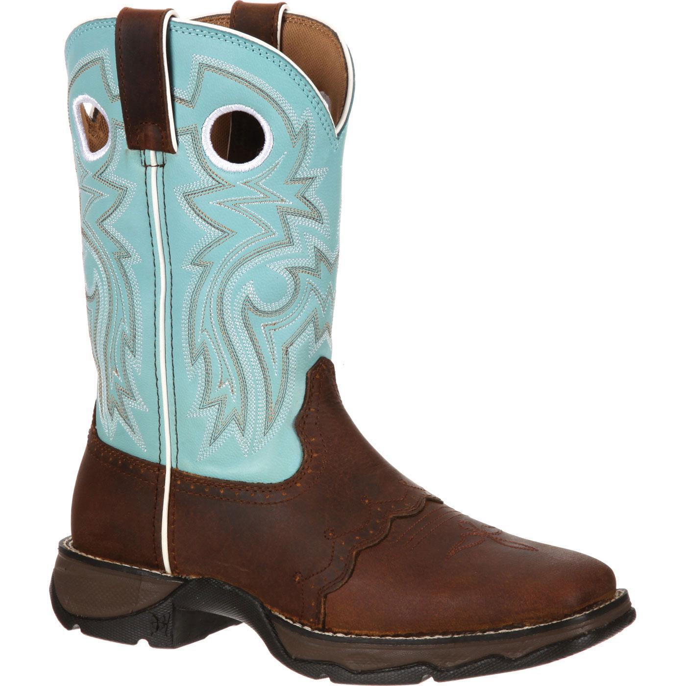 venta de liquidación marca famosa estética de lujo Bota vaquera para mujer Powder n' Lace Saddle Lady Rebel de Durango