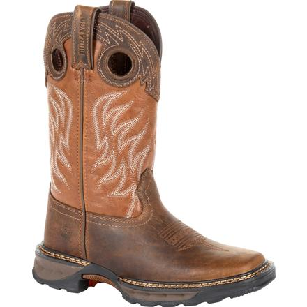 Lil' Durango® Maverick XP™ Big Kids Brown Western Work Boot