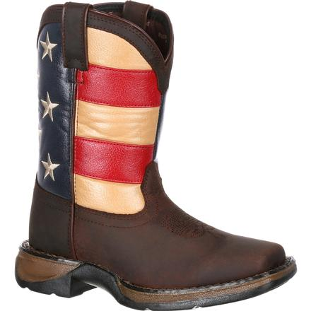 Lil' Rebel™ by Durango® Big Kids' Flag Western Boot