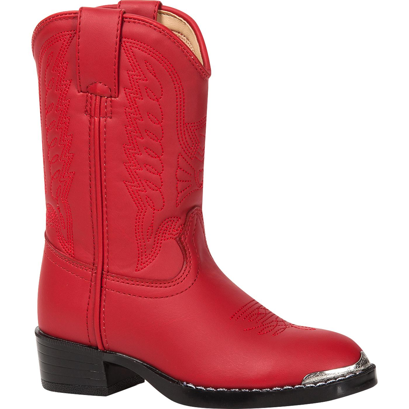 920e594c2 Durango Little Kid Red Western Boot with Toe Rand