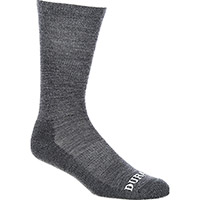 Durango Boot Light Weight Merino Wool Socks, Grey, medium