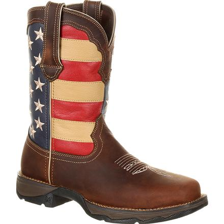 Lady Rebel™ by Durango® Steel Toe Patriotic Flag Work Boot, , large