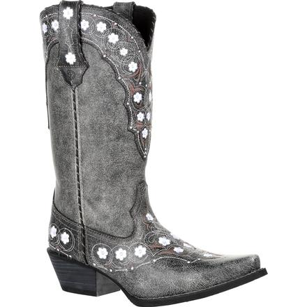 Crush by Durango Women's Pewter Floral Western Boot, , large
