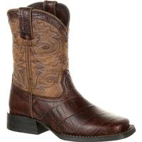 Lil' Durango® Mustang™ Big Kids' Faux Gator Western Boot, , medium