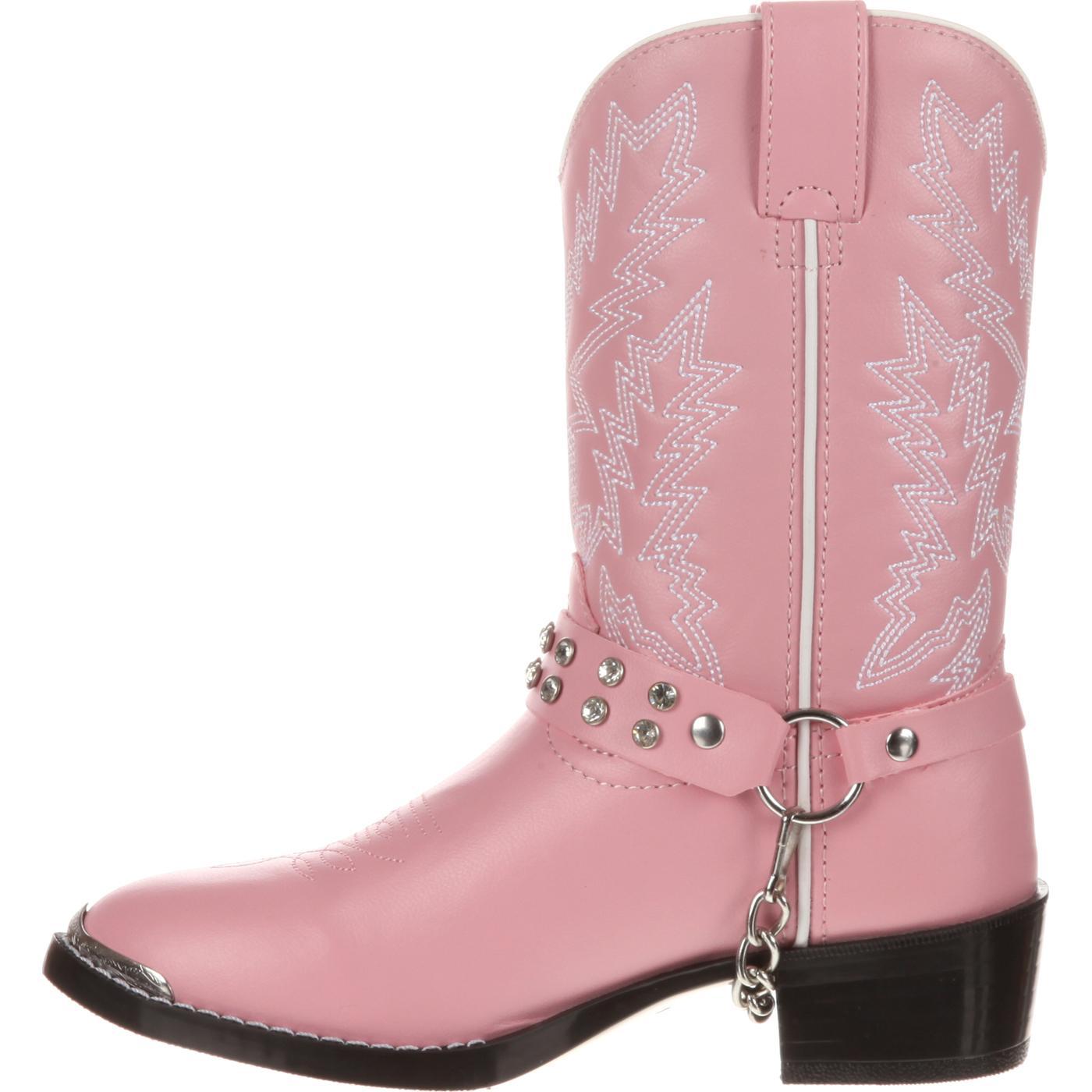 Botas vaqueras Durango para niños rosadas con imitación de diamantes Durango  Little Kid 55121bf825b
