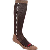 Durango Boot Women's Lightweight Merino Wool Socks, BROWN, medium
