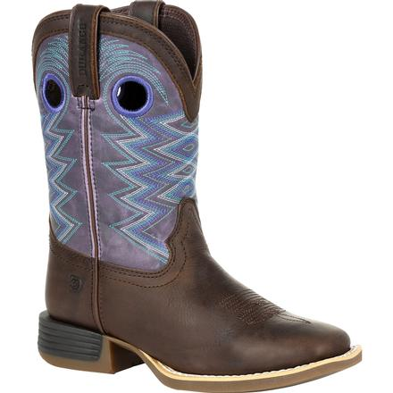 Durango Lil' Rebel Pro Big Kid's Amethyst Western Boot