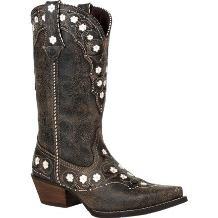 Crush™ by Durango® Women's Onyx Floral Western Boot