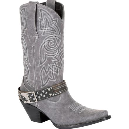 Crush™ by Durango® Women's Graphite Flag Accessory Western Boot