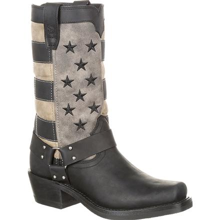 Durango Women's Black Faded Flag Harness Boot, , large