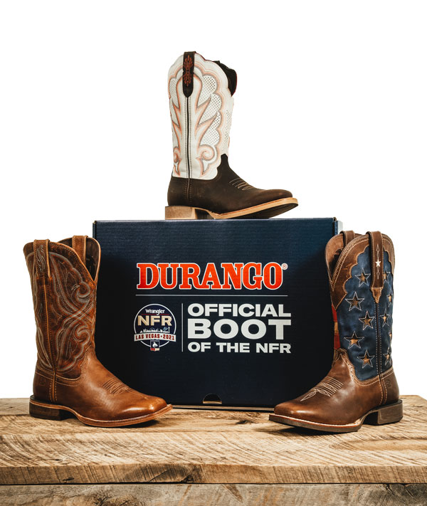 Durango® women's western boots are the official boot of the NFR