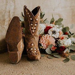 Western Wedding Themed Wedding with Boots Post